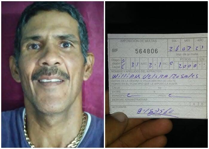 Padre de Camagüey es multado por llevar comida a sus hijos en medio del toque de queda