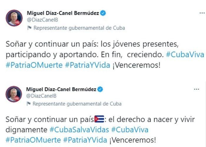Tuits Miguel Díaz Canel