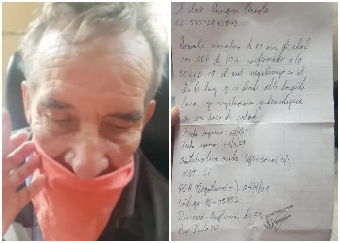 Anciano cubano enfermo es enviado a su casa sin que finalice su tratamiento en un hospital