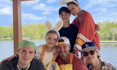 El Happy Easter de David Beckham y su familia
