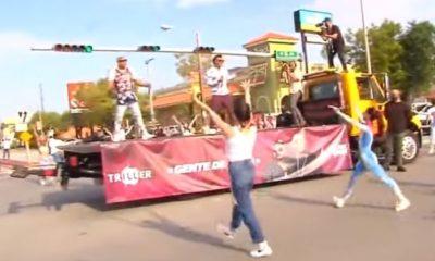 Gente de Zona detiene tráfico Hialeah cantando Patria y Vida