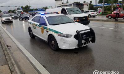 Policía termina hospitalizado tras un choque frontal en la Pequeña Habana