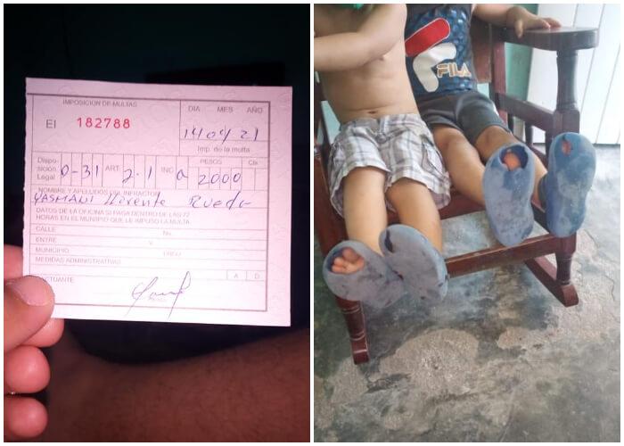 Por culpa de una multa, padre cubano no tiene dinero para comprar chancletas para sus hijos