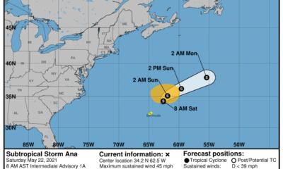 ¡Ana se adelanta! Es la primera tormenta de la temporada de huracanes en el Atlántico