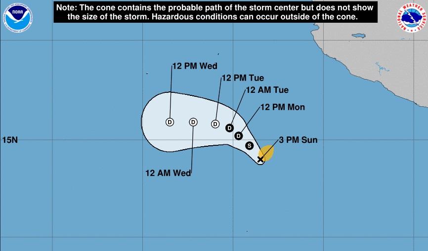 ¡Andrés! la primera tormenta tropical de la temporada de huracanes 2021