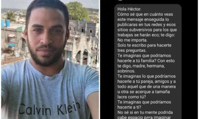 Amenaza de muerte para el periodista cubano Héctor Luis Valdés y su familia