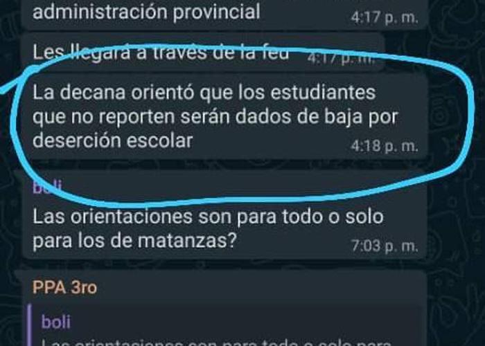 Chat filtrado universidad de Matanzas