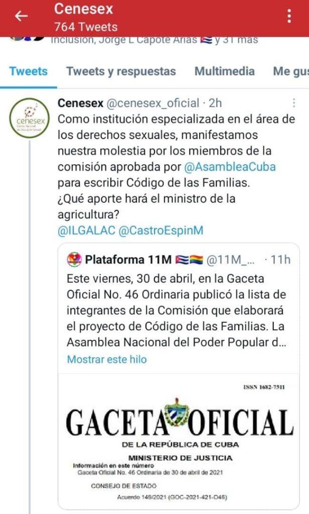 Hackean la cuenta en Twitter del Cenesex, liderado por Mariela Castro