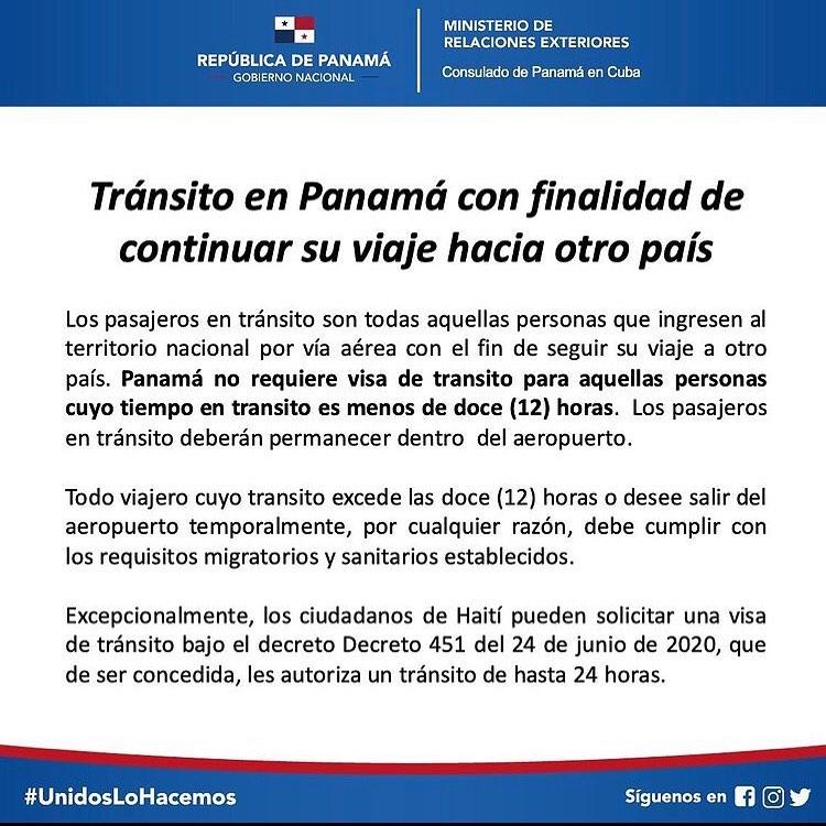 Importante información para los cubanos que viajan a Panamá