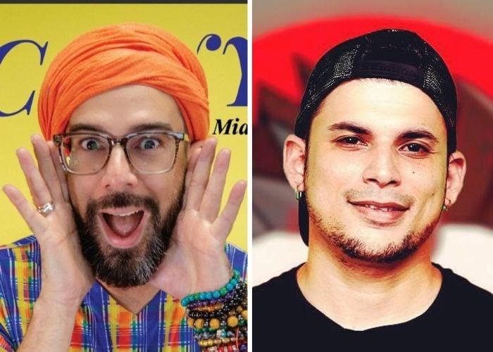 Influencers cubanos Otaola y Ultrack se besan