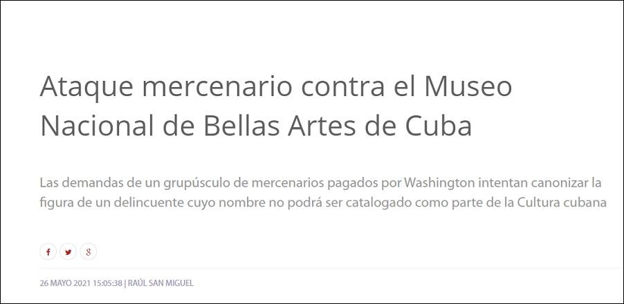 Prensa oficialista arremeten contra los artistas cubanos que piden la liberación de Otero Alcántara
