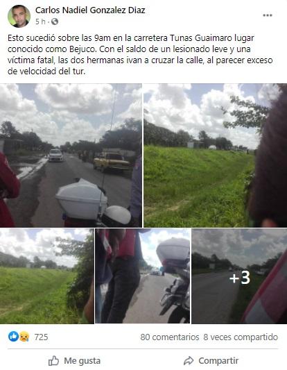 Cubana pierde la vida en accidente de tránsito en Las Tunas
