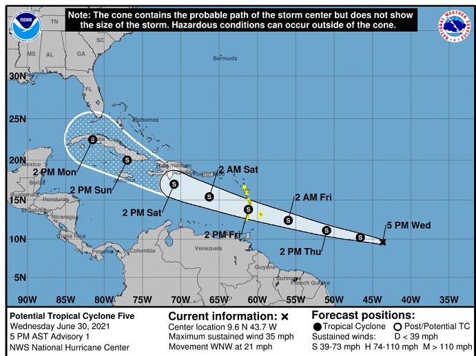 Formación de potencial ciclónico afectaría al territorio cubano
