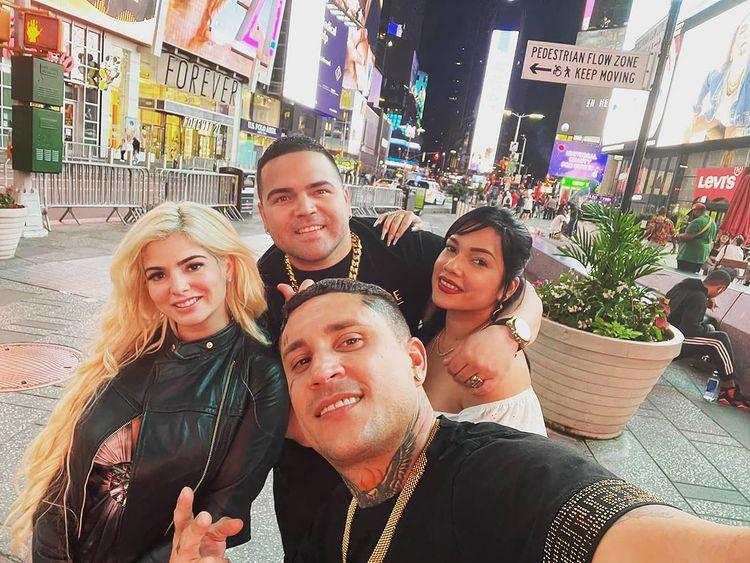 Osmani Garcia en Times Square