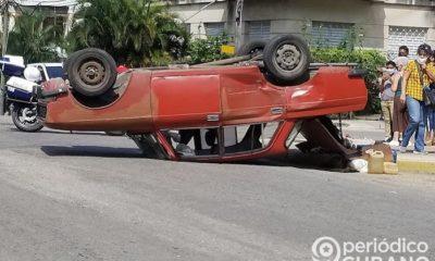 Accidente de tránsito en las calles de la Isla