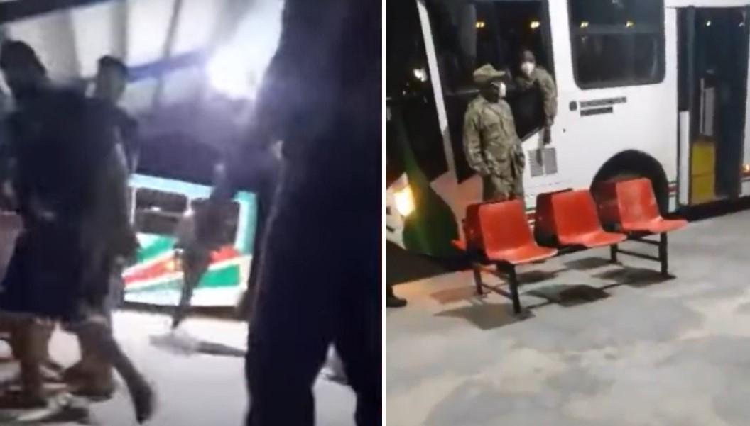 desalojo violento de cubanos en Surinam