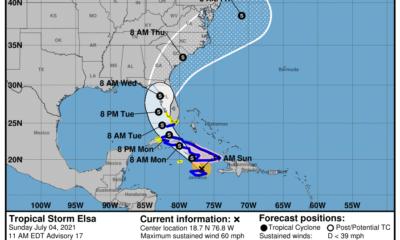 Aviso de ciclón tropical: Elsa se acerca a Cuba