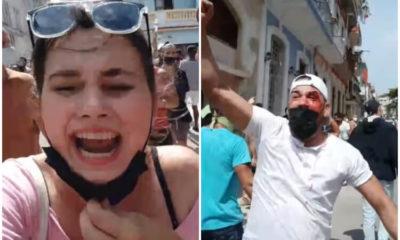 Beatriz Batista denuncia represión violenta contra manifestantes. (Beatriz Batista-Facebook).