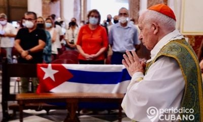 Cardenal de Valencia celebra misa para pedir el cese de la represión en Cuba