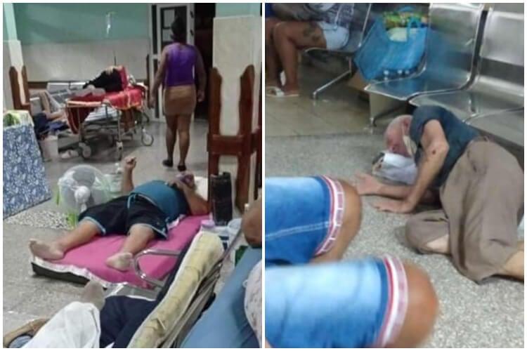 Colapsan hospitales de Matanzas. (Alejandro Martínez-Facebook_ Ronni Silva-Facebook).