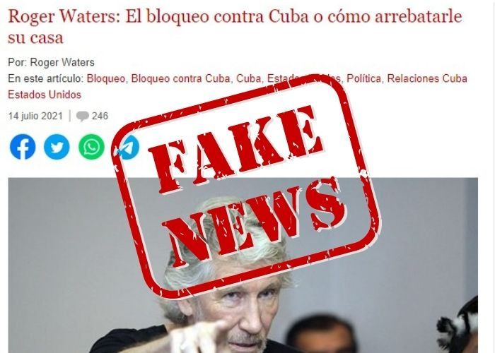 Fake News Rogers Waters