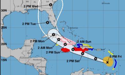 Huracán Elsa causa destrozos en la isla de Barbados
