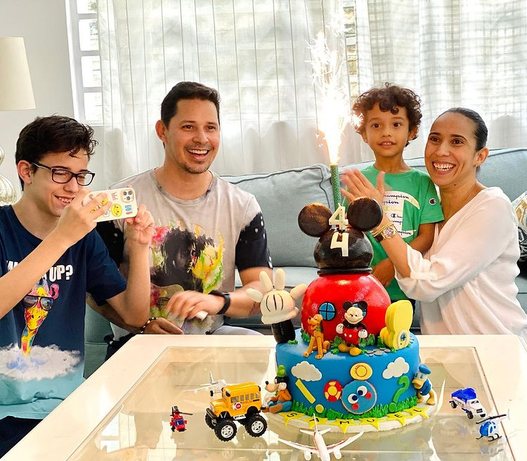 Leoni y Yuliet celebran cumple de Samuel