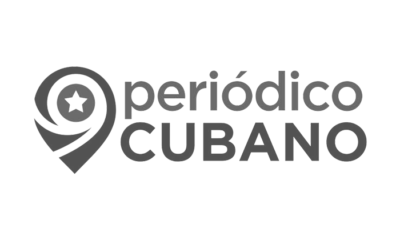 Logo en blanco y negro de periodico cubano por luto en Cuba
