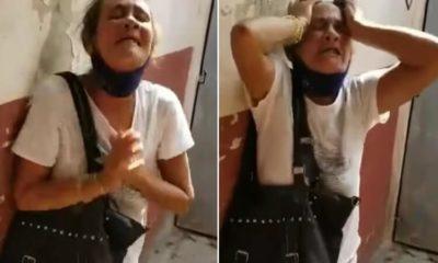Mujer llora desesperada por su hijo detenido. (Asiel Babastro-Instagram).