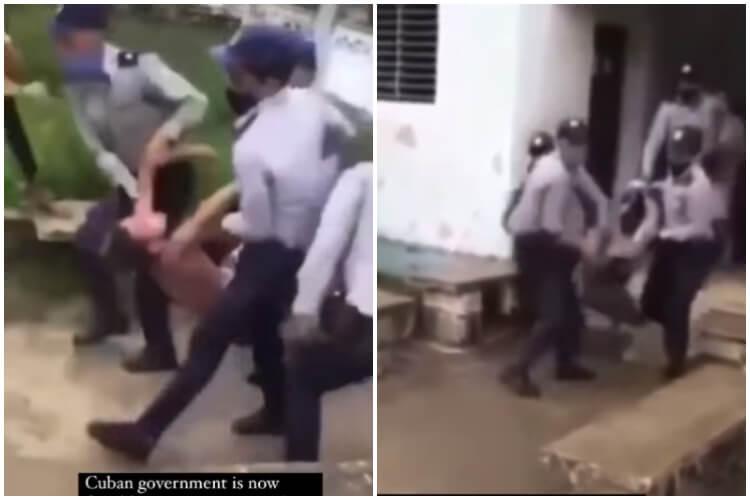 Policía saca a jóvenes a la fuerza de sus casas. (Jerai Nomir-Facebook).