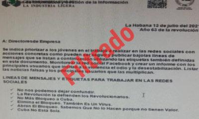 Se filtran órdenes del régimen cubano para inundar las redes con propaganda