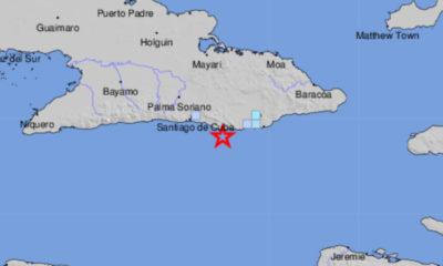 Sismo de 4.1 grados sacude la costa sur de Guantánamo