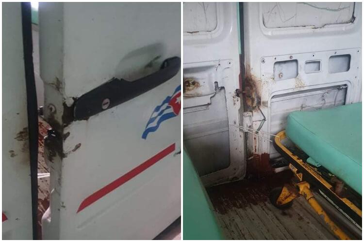 Ambulancia rota en Sagua la Grande. (Melvys Placencia-Facebook).