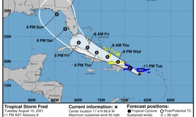 Aviso Oficial: Se forma la Tormenta tropical Fred