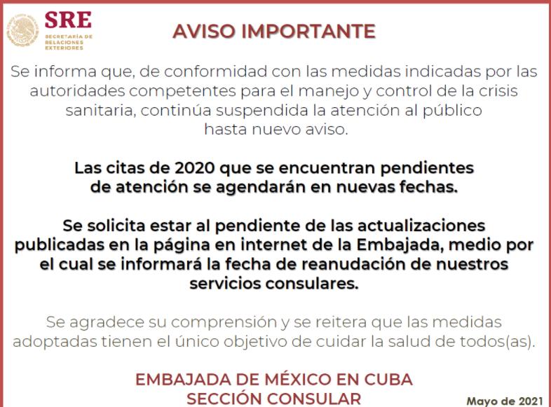 Cubanos exigen la reapertura de la Embajada de México en La Habana