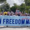 Exilio se manifiesta en Miami a favor de la Libertad de Cuba