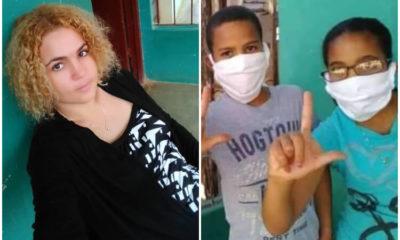 Hijos de María Cristina Garrido, presa del 11J. (Michael Valladares-Facebook).