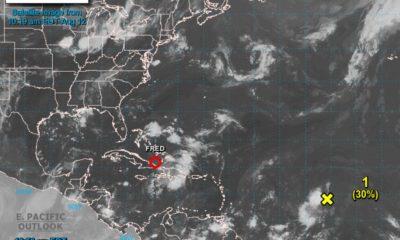 La tormenta tropical Fred se degrada tras pasar por República Dominicana