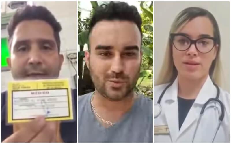 Médicos acosados por las autoridades por video respuesta a Marrero. (Manuel Guerra-Facebook_YouTube).
