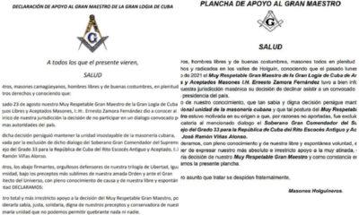 Masones de Holguín y Camagüey apoyan a Gran Maestro