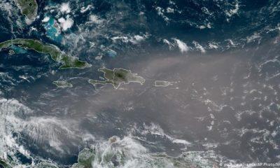 Nube de polvo del Sahara sobre el Caribe. (NOAA).