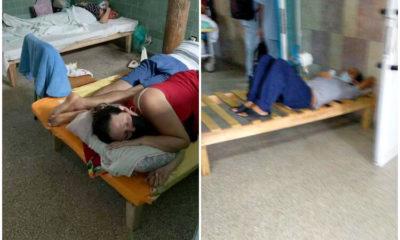 Noticias de Cuba más leídas hoy: Pacientes en camas incompletas o compartidas en Hospital de Cienfuegos. (Elianet Padrón-Facebook).