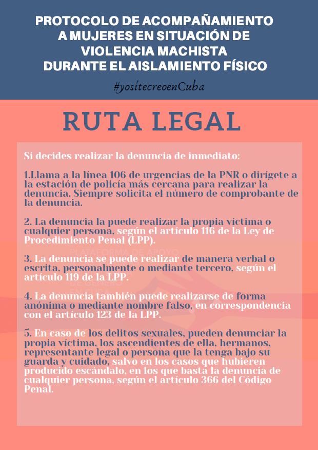 Protocolo para mujeres víctimas de violencia. (Foto Yo Sí Te Creo en Cuba-Facebook)