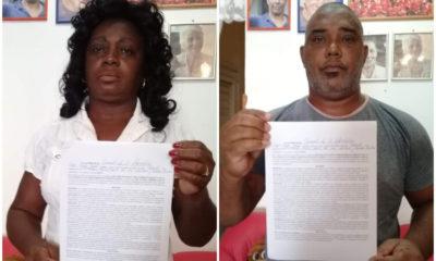 Berta Soler y Ángel Moya liberados tras horas de arresto. (Berta Soler GFernández-Facebook)