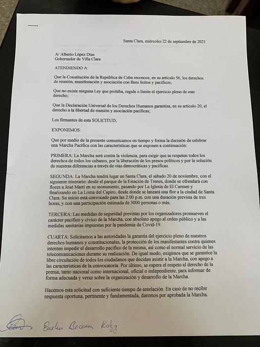 Ciudadanos de Santa Clara participarán en la protesta pacífica convocada por Archipiélago