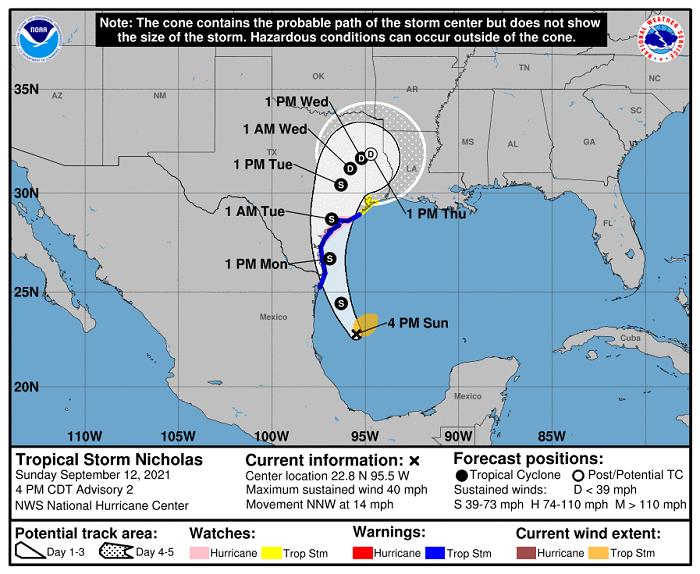Conoce la trayectoria de la tormenta tropical Nicholas