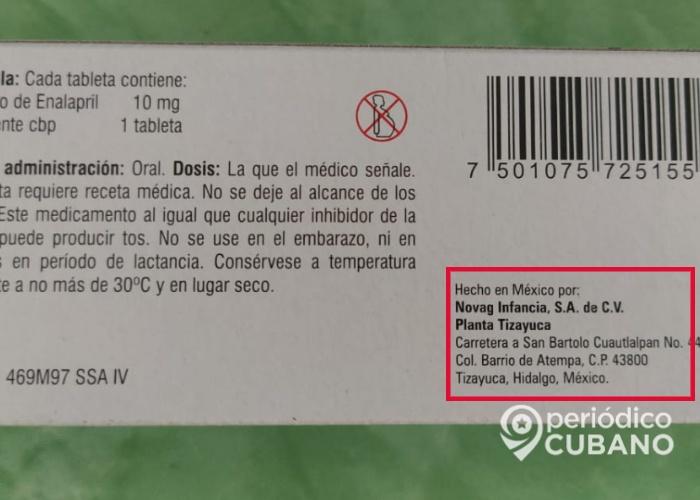 Gobierno cubano vende medicamentos hechos en México. (Foto: Periódico Cubano)