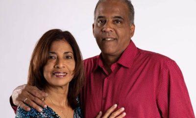 Omar Franco y la su esposa