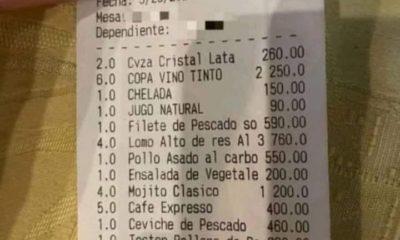 precios en restaurante