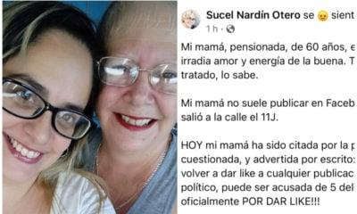 Cubana de 60 años citada por dar like